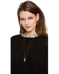 Chan Luu Metallic Skull Necklace