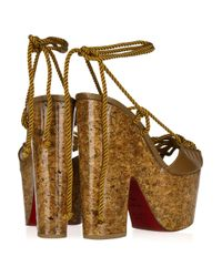 Christian Louboutin Brown Jerry 160 Lace-up Leather Sandals
