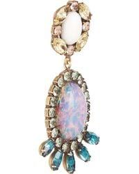 DANNIJO - Blue Paz Goldtone Swarovski Crystal Earrings - Lyst