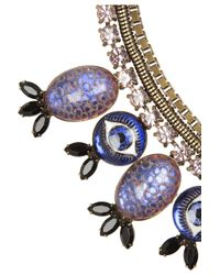 DANNIJO - Purple Luisa Evil Eye Oxidized Brass Crystal Necklace - Lyst