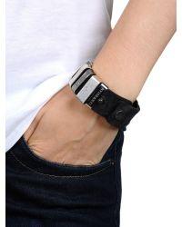 DIESEL | Black Aseris Bracelet for Men | Lyst