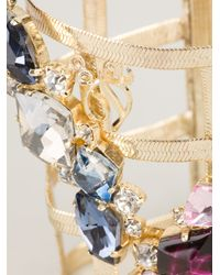 DSquared² - Multicolor Bejeweled Cage Cuff - Lyst