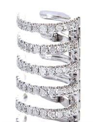 Elise Dray - Metallic Diamond Gold Stripes Single Clip Earring - Lyst