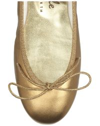 French Sole Metallic Harriet Leather Ballet Flats