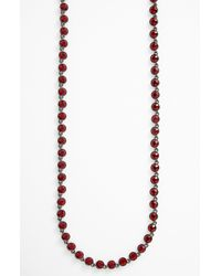 Givenchy | Purple Blue Glitz Y Necklace | Lyst