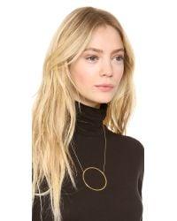 Jennifer Zeuner - Metallic Large Circle Diamond Pendant Necklace - Lyst