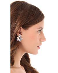 Jenny Packham - Gray Icarus Clip On Earrings I - Lyst