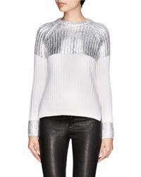 JOSEPH Metallic Coated High-low Sweater
