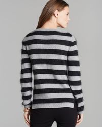 Juicy Couture Blue Sweater Wellington Stripe with Stones