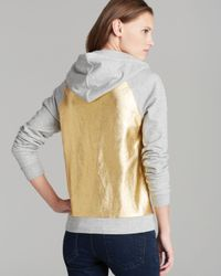 Juicy Couture Gray Hoodie Metallic Pullover