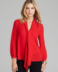 Juicy Couture Red Blouse Neck Tie