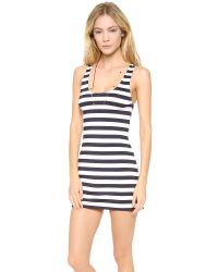 Juicy Couture Black Boho Stripe Cover Up Dress