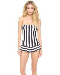 Juicy Couture Blue Boho Stripe Swimsuit