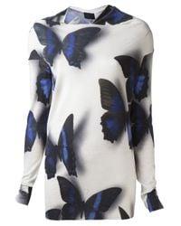 Lanvin Multicolor Butterfly Print Blouse