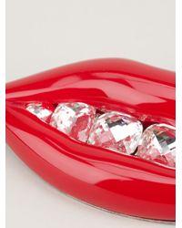 Lanvin Red Lip Brooch