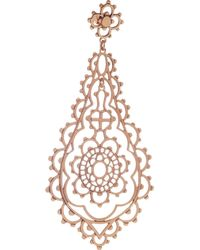 Laurent Gandini Metallic Serenissima 9karat Rose Gold Earrings