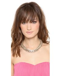 Lee Angel Metallic Box Link Statement Necklace