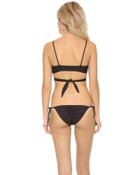 L*Space Black Sweet & Chic Chloe Wrap Bikini Top
