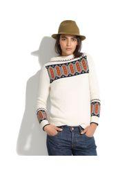 Madewell White Merino Fresh Powder Sweater