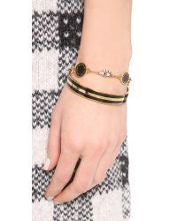 Marc By Marc Jacobs Metallic Enamel Striped Bangle Bracelet