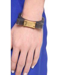 Marc By Marc Jacobs Black Jelly Bow Bangle Bracelet