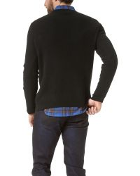 Marc By Marc Jacobs Black Kensington Cashmere Thermal Sweater for men