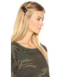 Marc By Marc Jacobs Black Drippy Marc Hair Clip
