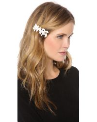 Marc By Marc Jacobs Natural Drippy Marc Hair Clip