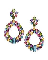 Marco Bicego | Multicolor Murano 18k Multi-stone Chandelier Earrings | Lyst