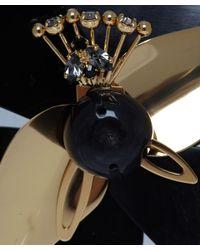 Marni Black Horn Flower Brooch