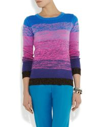 Matthew Williamson Blue Ombré Knitted Cotton Sweater