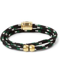 Miansai - Black Woven-Cord And Metal Wrap Bracelet for Men - Lyst