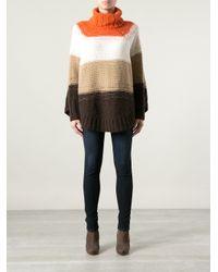 MICHAEL Michael Kors Yellow Roll Neck Poncho Sweater