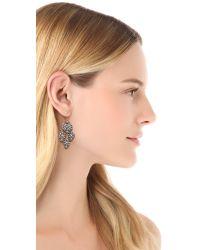 Miguel Ases - Metallic Triple Drop Beaded Earrings - Lyst