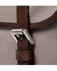 Mulberry Brown Elkington Leathertrimmed Canvas Briefcase for men