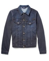 Nudie Jeans Blue Perry Over Dyed Organic Denim Jacket for men