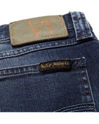 Nudie Jeans Blue Tight Long John Slim-Fit Washed Organic Denim Jeans for men