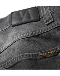 Nudie Jeans Gray Slim Jim Regular Fit Organic Denim Jeans for men