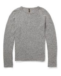 Nudie Jeans Gray Vladimir Flecked Wool Blend Sweater for men