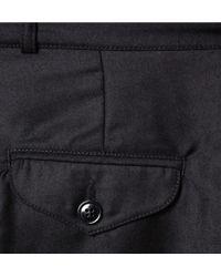 Oliver Spencer Black Regular-Fit Side-Stripe Wool Trousers for men