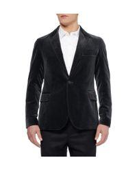 Oliver Spencer Black Bampton Slimfit Velvet Blazer for men