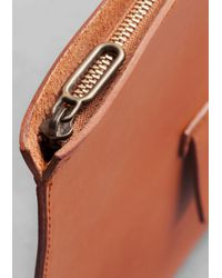 & Other Stories Brown Isabelle Bois Leather Clutch