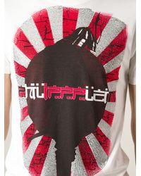 Philipp Plein White Samurai Tshirt for men