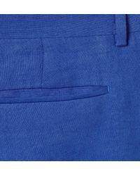 PS by Paul Smith Blue Slim-Fit Linen Suit Trousers for men