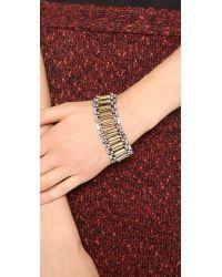 Rachel Zoe Metallic Two Tone Narrow Watchband Bracelet