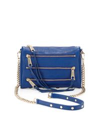 Rebecca Minkoff | Fivezip Mini Crossbody Bag Metallic Blue | Lyst