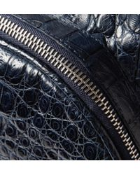 Santiago Gonzalez Blue Crocodile Backpack for men