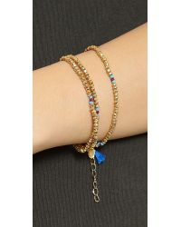 Shashi - Metallic Eliza Wrap Bracelet - Lyst