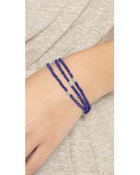 Shashi - Blue Eliza Wrap Bracelet - Lyst