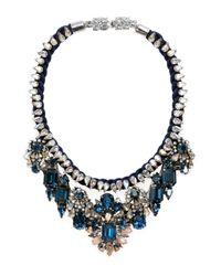 Shourouk | Blue Gilda Bib Necklace | Lyst